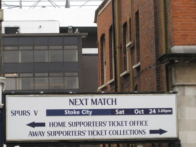 Tottenham Hotspur FC - Stoke City, White Hart Lane, Premier League, 24/10/2009