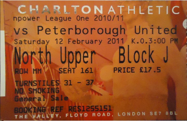 Charlton Athletic - Peterborough United FC, Valley, League One, 12/02/2011