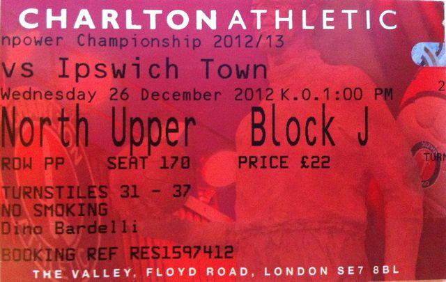 Charlton Athletic - Ipswich Town FC, Valley, Championship, 26/12/2012