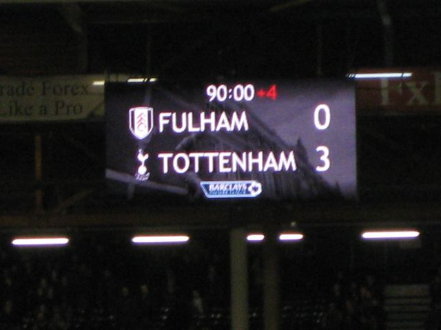 Fulham FC - Tottenham Hotspurs, Craven Cottage, Premier League, 01/12/2012