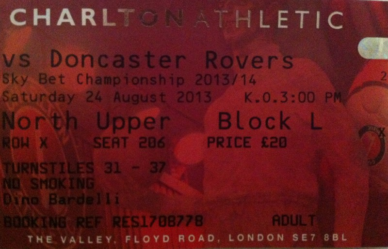 Charlton Athletic - Doncaster Rovers FC, Valley, Championship, 24/08/2013