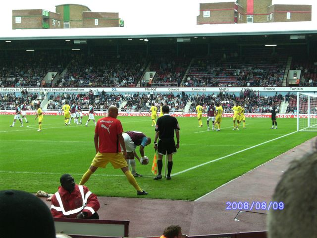 West Ham United - Villareal CF, Upton Park, Friendly, 09/08/2008