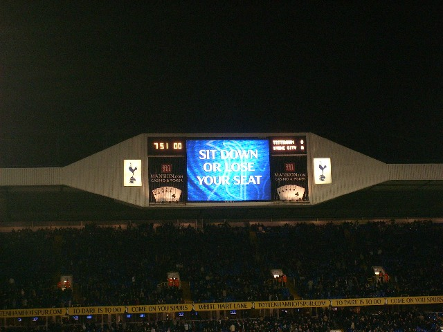 Tottenham Hotspur FC - Stoke City FC, White Hart Lane, Premier League, 27/01/2009