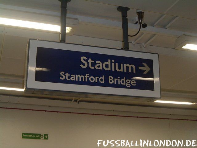 Stamford Bridge - In der Fulham Broadway Tube Station - Chelsea FC - fussballinlondon.de
